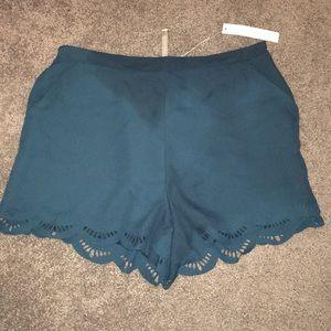 Scalloped Lauren Conrad shorts